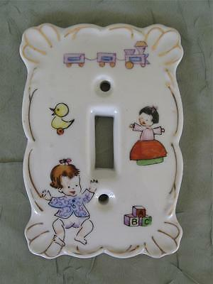 Vintage Kelvin's Fine China Switchplate For Baby Childs Room Japan Single Toggle