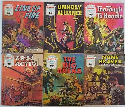 Dated 1972/3. JOB LOT  6 x BATTLE PICTURE LIBRARY War Comics  #'s 678 - 698.
