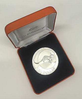 Australia 2004 $1 Silver Cased Uncirculated 1oz Kangaroo