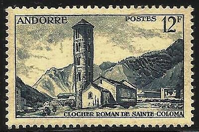 French Andorra 1955-1958 Scott # 131 Mint Hinged