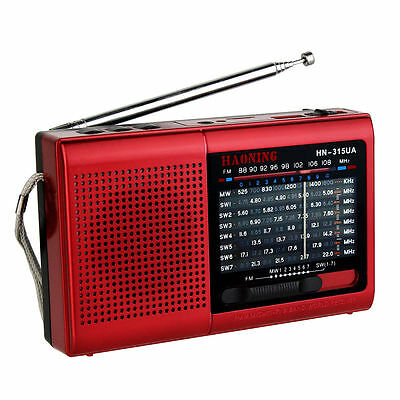 Portable High sensitivity FM/AM/SW1-7 Radio Receiver MP3 Rechargeable Battery YS