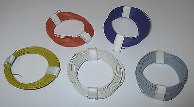 [0,179€/m] Copper - Stranded wire extra thin 0,04 mm² 5 Rings a 10 Meter NEW