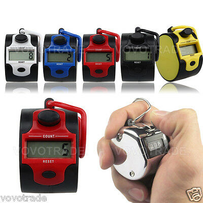 Mini 5 Digit Electronic LCD Display Digital Golf Finger Hand Ring Tally Counter