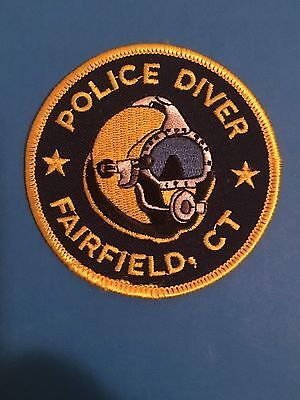 Fairfield Connecticut  Police Diver Small Round Patch