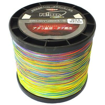 Pefiber 8 Strand Braid Fishing Line 50Lb 2000M 5 Colour Jigging 100% Uhmwpe