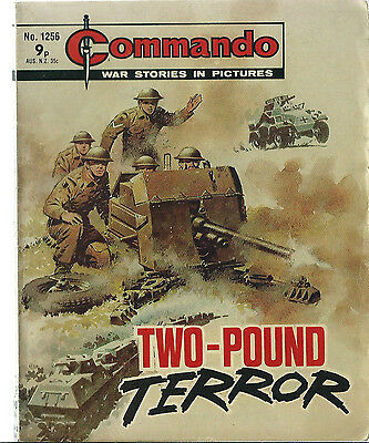 Two-Pound Terror,commando War Stories In Pictures,no.1256,war Comic,1978