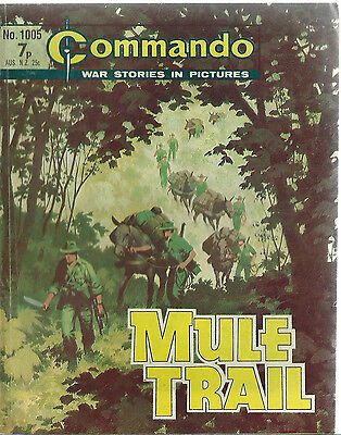 Mule Trail,commando War Stories In Pictures,no.1005,comic,1976