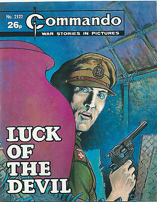 Luck Of The Devil,commando War Stories In Pictures,no.2122,war Comic,1987
