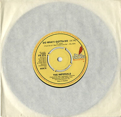 """Little Anthony And The Imperials 7"""" vinyl single record Do What I Gotta Do UK"""