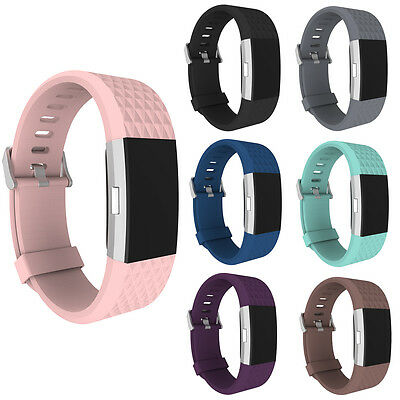 Fashion Replacement Wrist Strap Silicone Watch Band Bracelet for Fitbit Charge 2