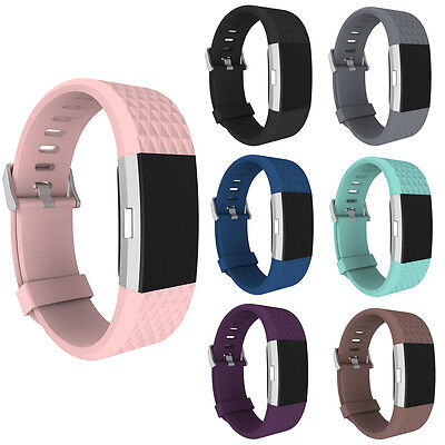 New Replacement Wrist Strap Silicone Watch Band Bracelet for Fitbit Charge 2
