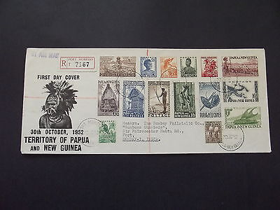 Papua-New Guinea 1952 Fdc - 15 Stamps - Full Set - Used - Found 1 More