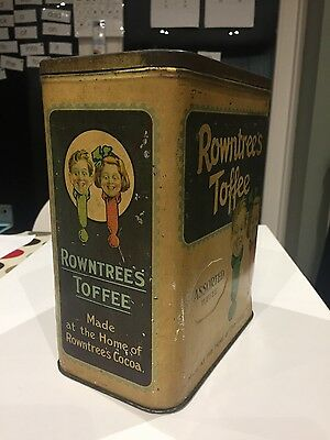 advertising tin rowntrees toffees , not enamel sign