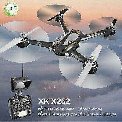 XK X252 FPV Drone with Wide-Angle HD Camera Brushless Motor RC Quadcopter RTF