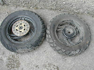 Pair Of Scooter Wheels And Tyres - Prob Chinese - 110 - 80 - 10