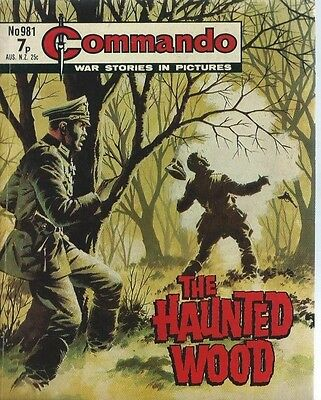 The Haunted Wood,commando War Stories In Pictures,no.981,war Comic,1975