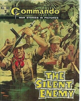 The Silent Enemy,commando War Stories In Pictures,no.987,war Comic,1975