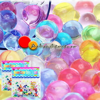 10bags Water Plant Flower Jelly Crystal Soil Mud Pearls Gel Beads Balls Decor