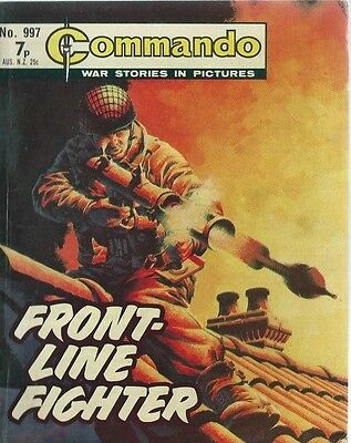 Front Line Fighter,commando War Stories In Pictures,no.997,war Comic,1975