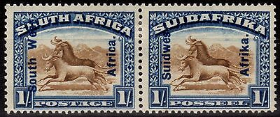 South West Africa 1927 1s Brown & Blue SG51 Fine Mtd Mint