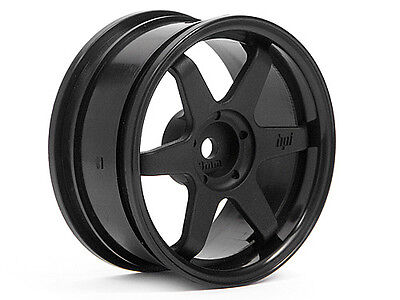 HPI Te37 Wheel 26mm Black (3mm Offset) #3841
