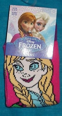 BNWT Disney Frozen Anna 1x pair of girls socks UK size 6-8.5 Pink