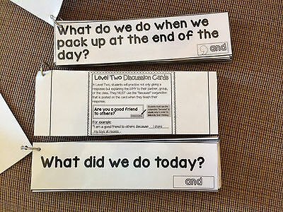 English Language Arts Discussion Cards with Conjunctions