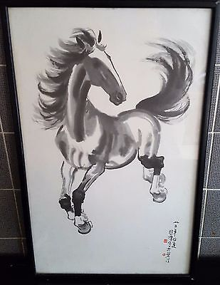 Vintage Framed Print The Colt Horse By Chinese Artist Xu Beihong