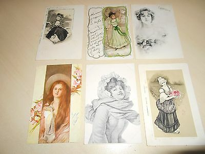 Lovely Collection Of 6 Early Art Nouveau Period Glamour Postcards (6)