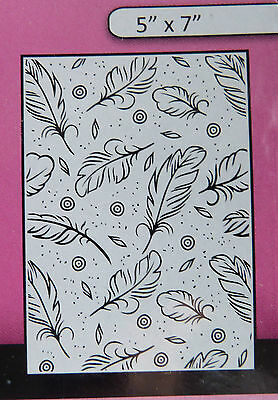 "Crafts-Too/CTFD3102/Embossing /Folder/Feathers 5"" x 7"""