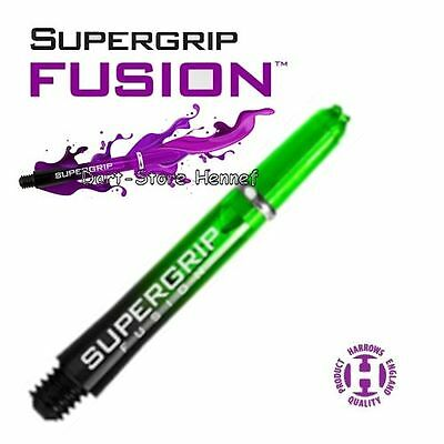 "1 Set = 3 St. Shafts Harrows ""SUPERGRIP FUSION"", 3,8 cm *** GRÜN ***"