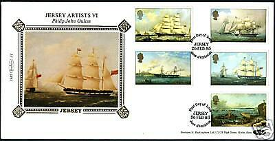 1985 Sailing Ships, Jersey Artists Philip Ouless FDC