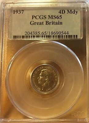 4 PENCE 1937 PCGS MS65 MAUNDY Great Britain