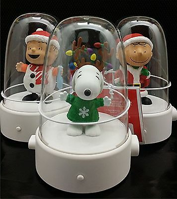 Hallmark Happy Tappers Peanuts New 2016 Set Of 3 Snoopy, Linus, Charlie Brown