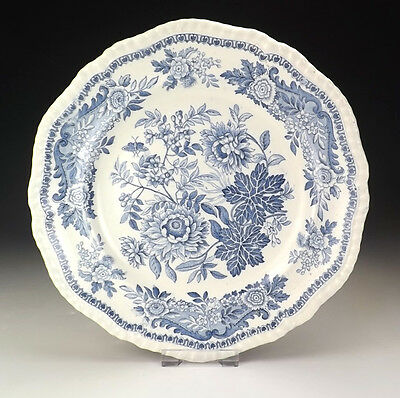 Antique Copeland Spode - Floral Blue & White Transferware Plate - Early!