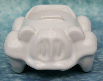 Vintage Honiton Pottery White Motor Sports Car Egg Cup