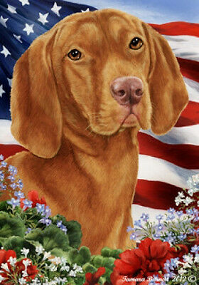 Garden Indoor/Outdoor Patriotic I Flag - Vizsla 160521