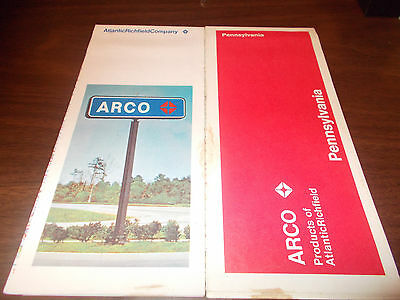 1971 ARCO Pennsylvania Vintage Road Map