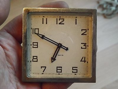 Good Vintage 8 Days Travel Clock