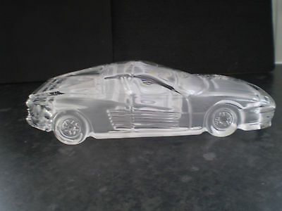 Glass Car Paperweight Ornament