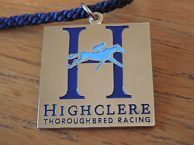 Rare Highclere Thoroughbred Racing Badge with Cord. Downton Abbey