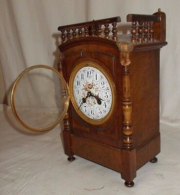 Antique FRENCH Mantel CLOCK In Need Of RESTORATION Marti Movement PAINTED Dial