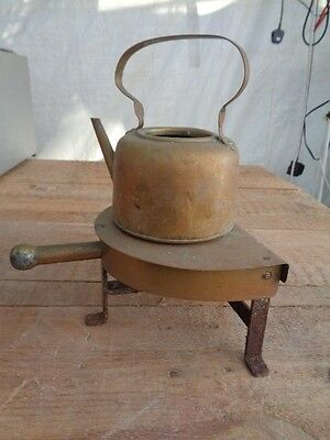 Vintage Antique Brass/copper Kettle And Stand