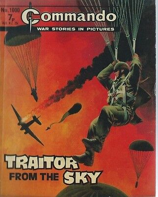 Traitor From The Sky,commando War Stories In Pictures,no.1000,war Comic,1976