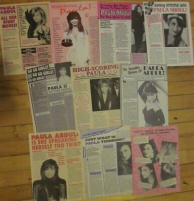 Paula Abdul, Lot of TEN Full Page Vintage Clippings