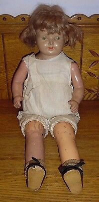 Vintage Effanbee? Composition Mama Doll w/ Sleepy Eyes - Unmarked - 18""