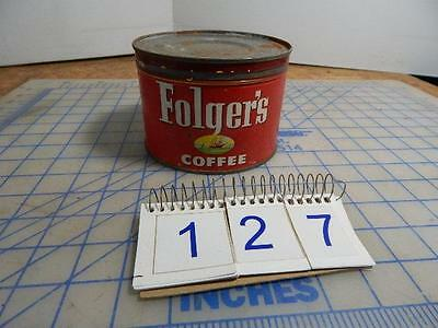 Vintage 1952 Folger's Coffee Can With Lid