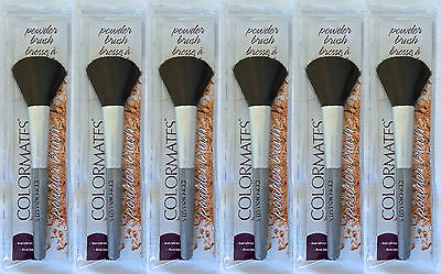 6 x Colormates Powder Brushes Wholesale Joblot Clearance Make Up New 3