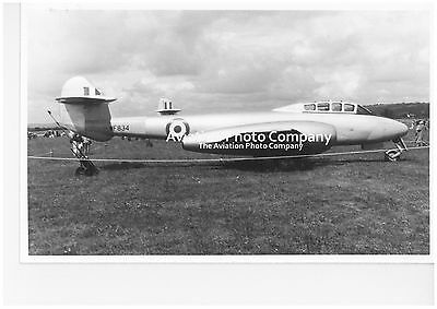 RAF 3 CAACU Gloster Meteor T.7 WF834 at Exeter (1963) Vintage Photograph