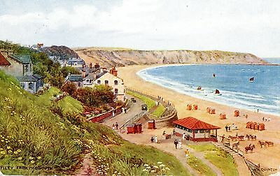 Vintage Artist Postcard.filey From The South.yorkshire.a.r.quinton.